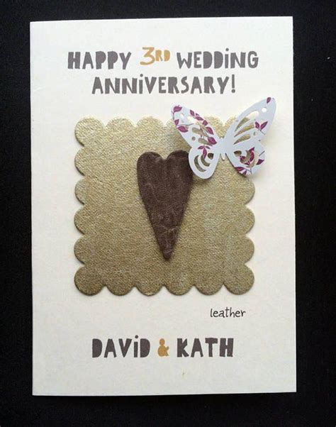 beautiful third wedding anniversary cards the 25 best - Third Wedding Anniversary Leather Ideas