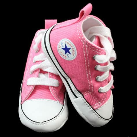 baby converse shoes converse all infant baby pink hi tops pram shoes
