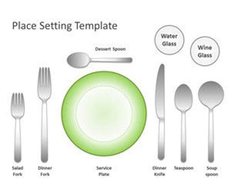 free table setting powerpoint templates free ppt