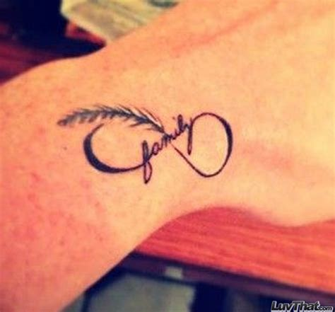 infinity feather tattoo family on wrist www pixshark images