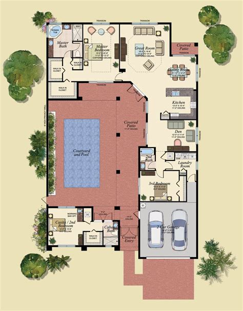 courtyard plans best 25 house plans with pool ideas on one