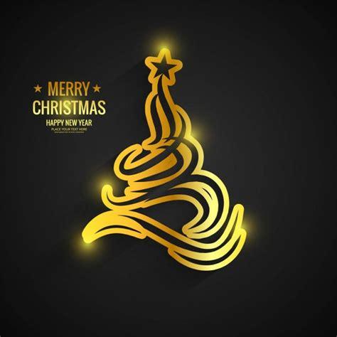 arbol de navidad dorado 225 rbol de navidad dorado sobre fondo negro descargar