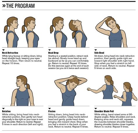 Neck Exercises At Your Desk by The Gallery For Gt Office Ergonomics Exercises