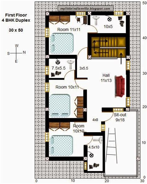 house design 30x50 site my little indian villa