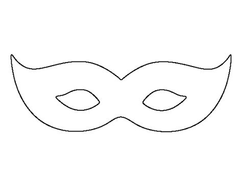 mask template pdf mardis gras mask pattern use the printable outline for