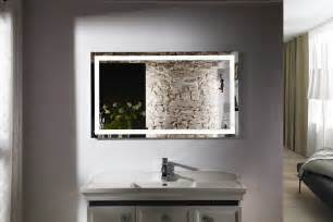 Bathroom Lighted Mirrors Budapest Iv Lighted Vanity Mirror Led Bathroom Mirror Horizontal