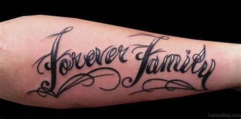family forever tattoo designs 20 best family wording on arm