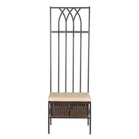 entryway coat rack with bench view larger