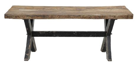 auroura reclaimed wood plank top dining table