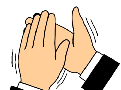 clapping clip applauding clipart
