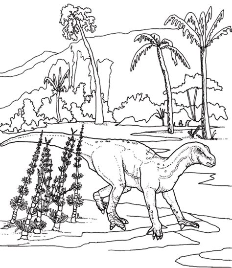 dinosaurs coloring pages to print iguanodon coloring