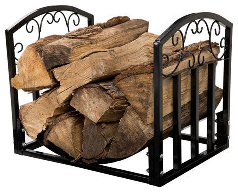 Log Rack For Fireplace by Garden Fireplace Log Bin With Scrolls
