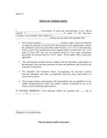Undertaking Agreement Letter Deed Of Undertaking Pros Carlos