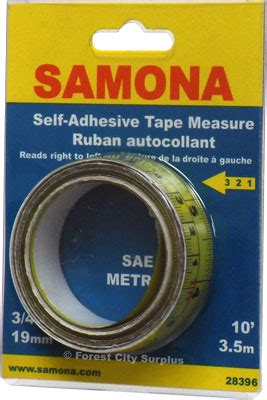 right to left 10 foot self adhesive tape measures