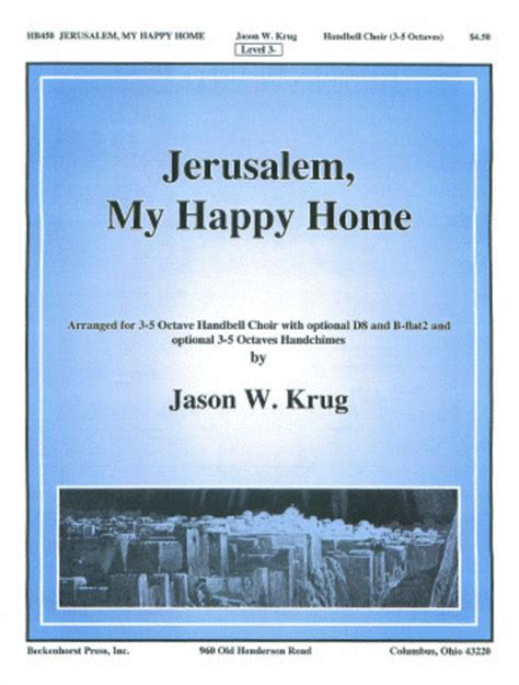 jerusalem my happy home sheet by jason w krug