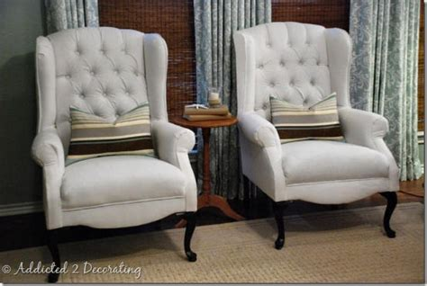 Reupholstered Wingback Chairs How To Reupholster A Living Room Chair