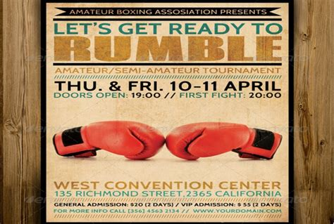 boxing poster template free 25 boxing poster template psd indesign and ai format