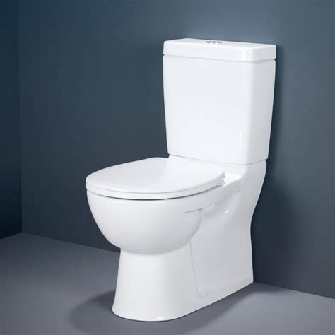 Caroma Stirling Vitreous China 4.5/3 litre Dual Flush Wall Faced Close Coupled Toilet Suite