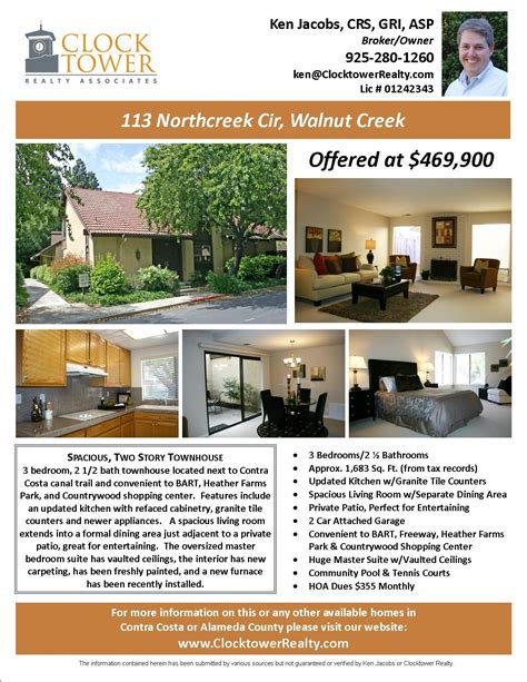 Flyers For Selling Houses Marketing Advertising Walnut Creek Real Estate Homes For Sale House For Sale Ad Template