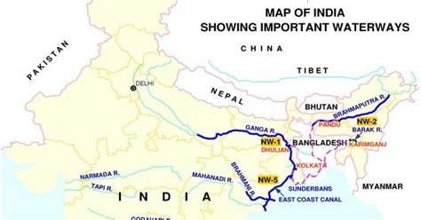 america map for upsc manu s news pmo identifies river routes for development