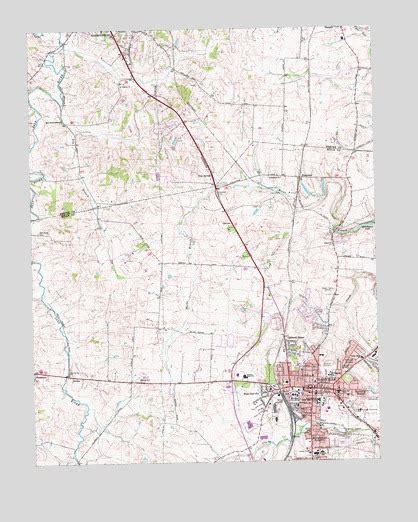 ky map danville danville ky topographic map topoquest