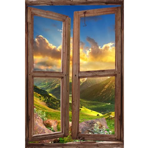 fabric murals for walls window wall mural valley during sunset peel and stick