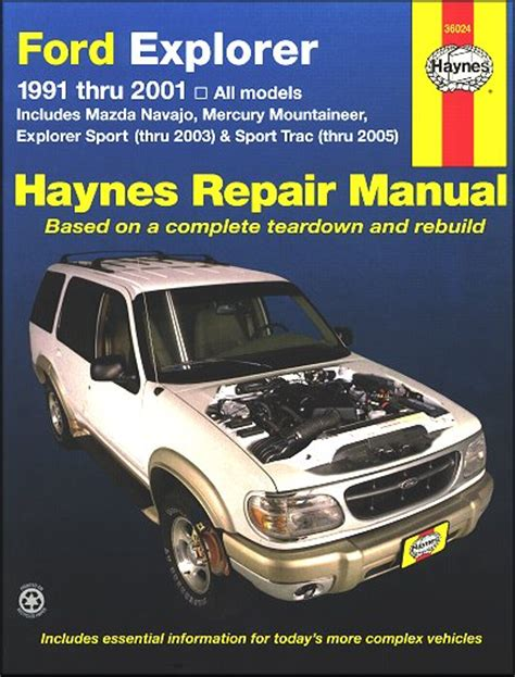 explorer sport trac navajo mountaineer repair manual 1991 2005