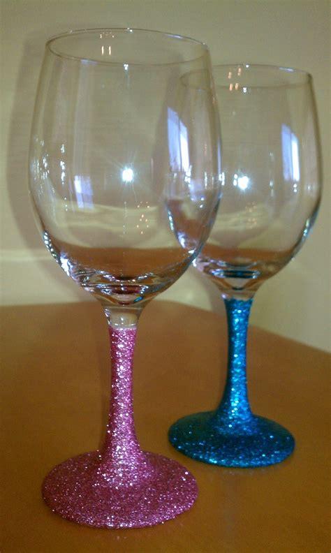 baby shower personalized wine glass handpainted custom baby shower glitter wine glasses 36
