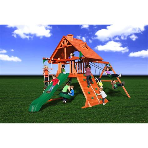 gorilla wooden swing sets gorilla playsets sunscape cedar wooden swing set wooden