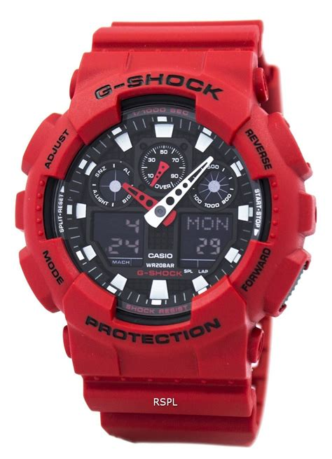 Casio G Shock Ga 100b 4a Original casio g shock ga 100b 4a analog digital mens