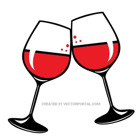 Wine Glasses Clip Art Free Vector Graphics Freevectors