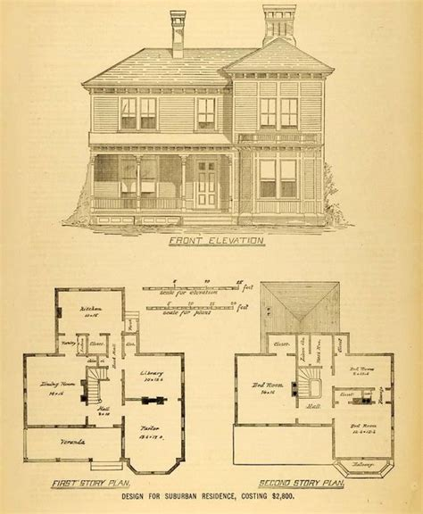 victorian blueprints 1878 print house architectural design floor plans