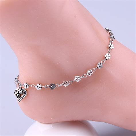 My Anklet silver bead chain anklet ankle bracelet barefoot sandal foot 11street malaysia