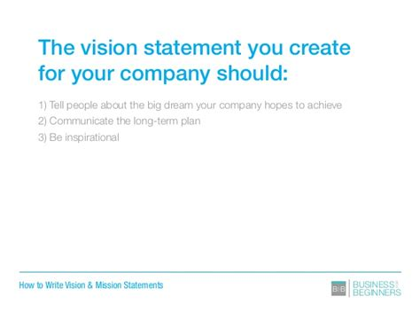 sle business plan vision statement how to write vision and mission statements for your business