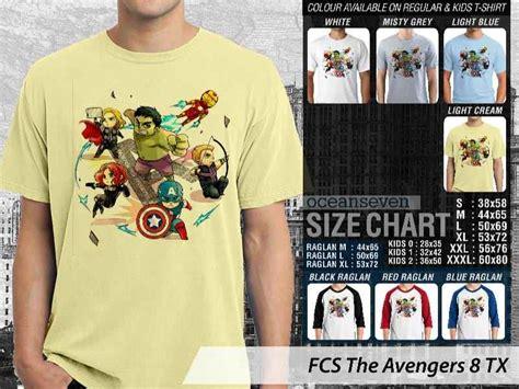 Kaos Marvel Avenger kaos marvel versi kartun kaos marvel heroes kartun kaos family kaos