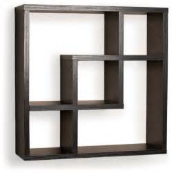 Wall Book Shelves Geometric Square Wall Shelf With 5 Openings Contemporary