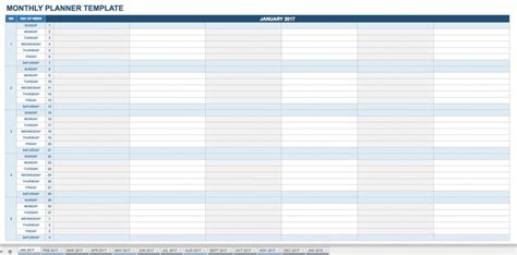 monthly timetable template monthly timetable template free 2017 monthly calendar