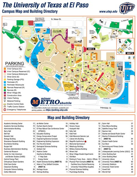 utep map utep parking map
