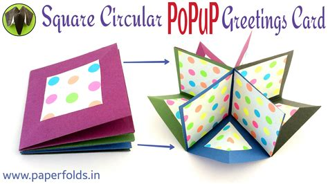 Paper Crafts Greeting Cards - how to make a quot square circular popup greeting card