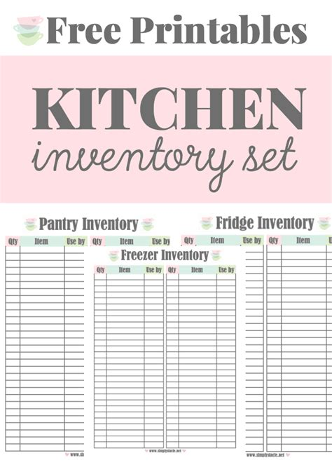 free printable meal planner kitchen set free printable kitchen inventory printables simply stacie