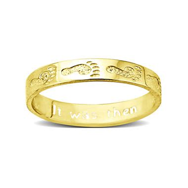 footprints 10k gold ring jcpenney