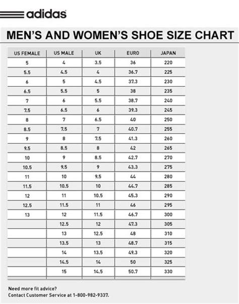 1000 images about size chart on shoes adidas