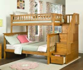 columbia staircase bunk bed caramel latte