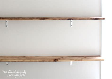 Strong Wall Shelf by We Lived Happily After Easy Diy Floating Shelves