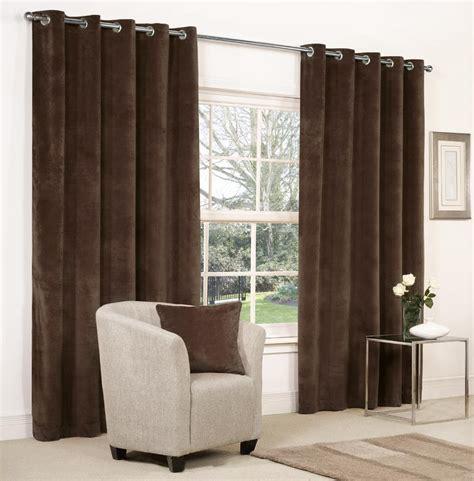 brown velvet curtains velvet ringtop lined window door curtains brown red grey