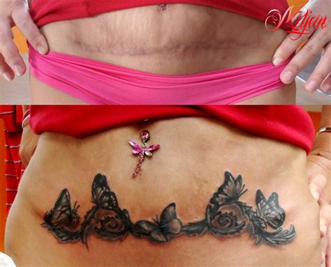 tattoos to cover c section scars 14 beautiful c section scar coverup tattoos