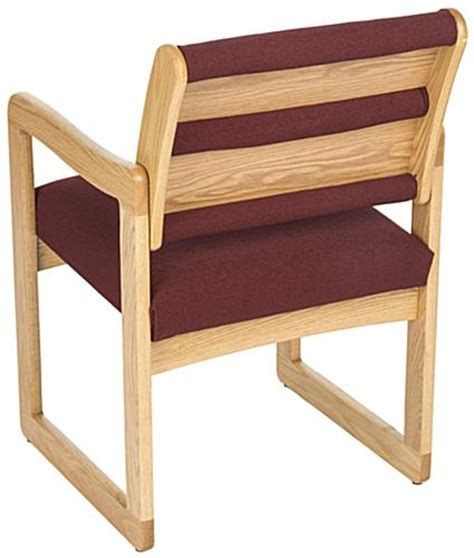 wood waiting room chairs burgundy waiting room chair oak wood with fabric upholstery