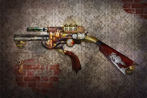 steampunk gun the sidearm photograph by mike savad