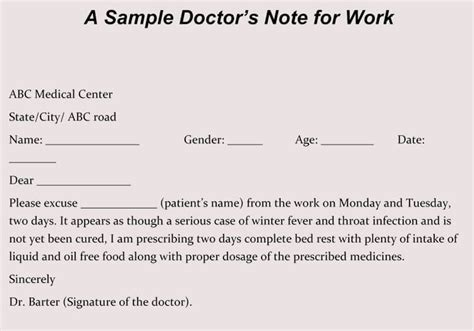 how do you get a doctors note for work creating fake doctor s note excuse slip 12 templates
