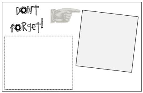 Don T Forget Template Print On Post It Notes Template